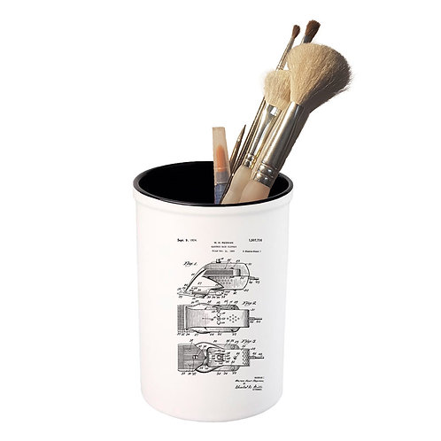 Vintage Print - Electric Clipper  - Ceramic Pot