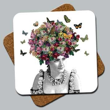 "C2: Coaster ""Butterfly Hair"""