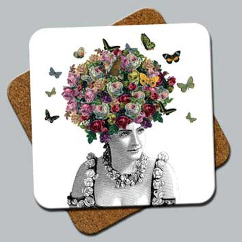 "C2: Coaster ""Butterfly Hair"""