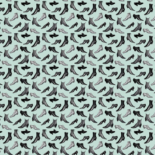 "Giftwrap SVWT-05a  ""Shoes Mint Green"""