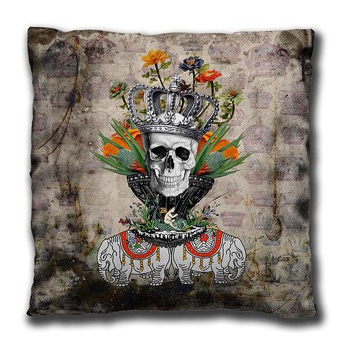 Cushion - Scull Flower