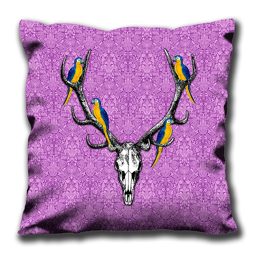 Cushion Cover - Antlers & Parrot's