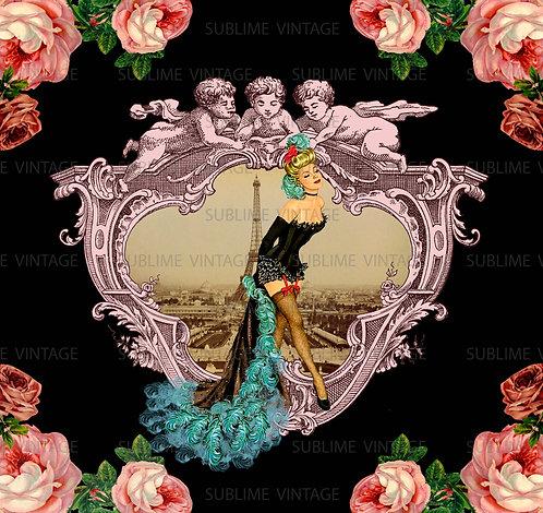 "Card SV14 ""Paris Dancer Rose"""