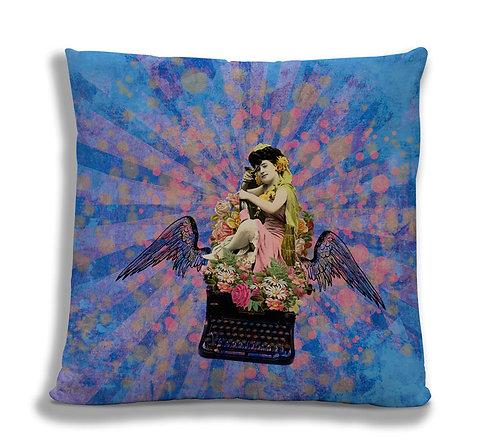 Cushion Cover - Typewriter Girl
