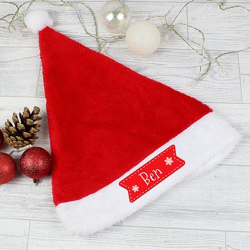 Personalised Star Santa Hat