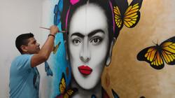 Frida Cahlo Pintura Mariposas by Luis MarLo