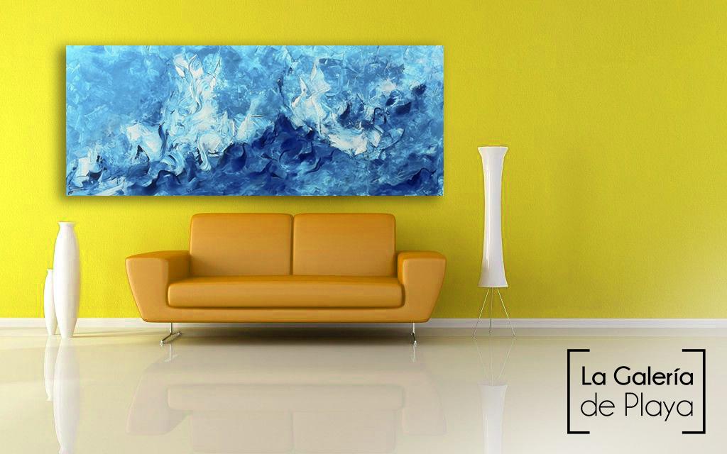 Abstracto azul by Edith Martinez