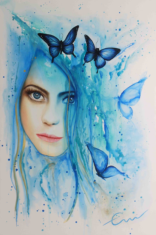 Mariposa agua