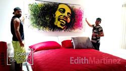 Bob Marley Popart a tamaño especial
