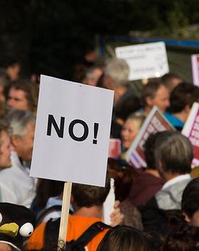 Los signos de protesta