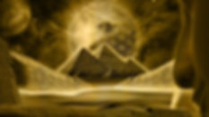 Golden pyramids and sacred geometric background design