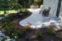 travertine,retaining wall, curved patio, patio, limestone