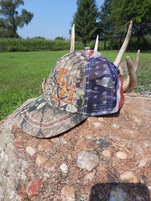 Mossy Oak American Flag Cap