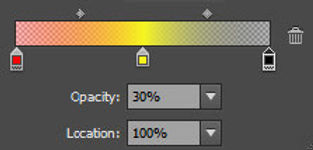 Gradient Colour and Opacity