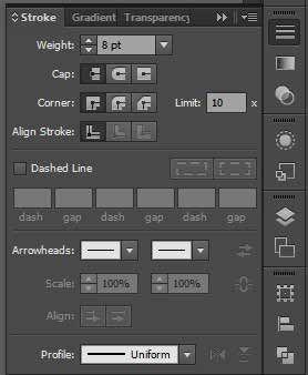 Stroke Palette Options Adobe Illustrator