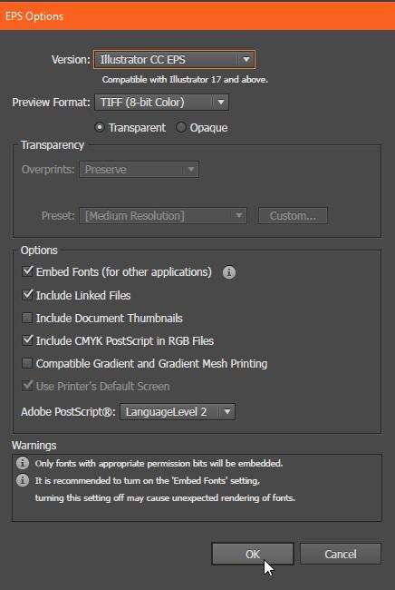Vector Options .eps Adobe Illustrator Free Tutorial