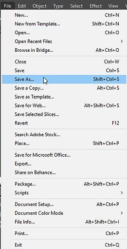 File>Save As Adobe Illustrator Free Tutorial