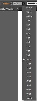 Stroke Thickness Options Adobe Illustrator