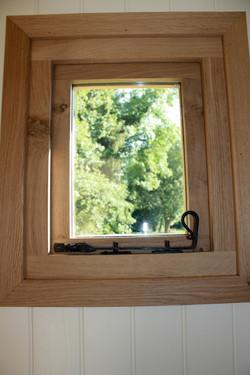 Oak frame, oak trees