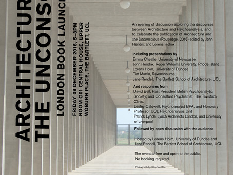 Architecture and the Unconscious Book Launch