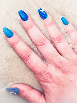 Nail art on acrylic nails by Amber