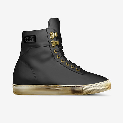 BLXCK // Leather Hi-Tops.