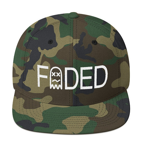 Faded Stamp Snapback Hat