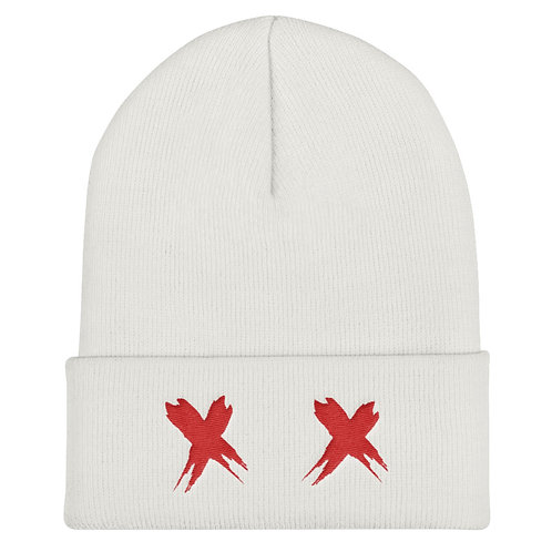 Exes Over Eyes Knitted Beanie