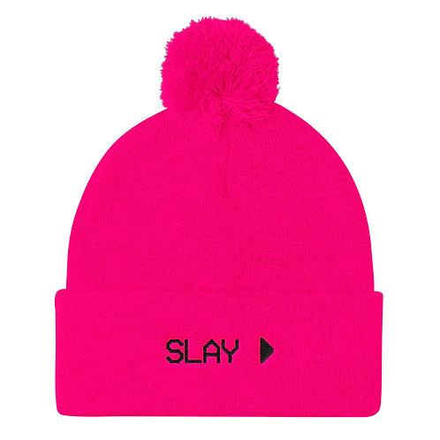 Slay Pom Knitted Beanie