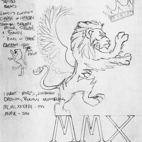 Misc. Sketch - Now Tattooed on Right Arm