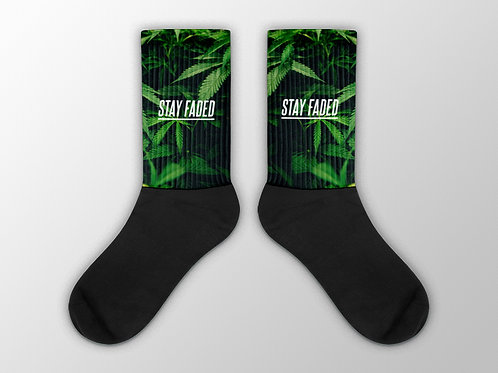 Stay Faded Weed Socks