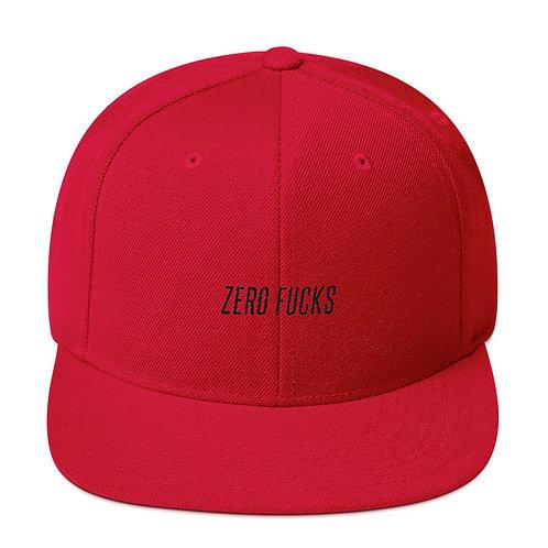 Zero Fucks Snapback Hat