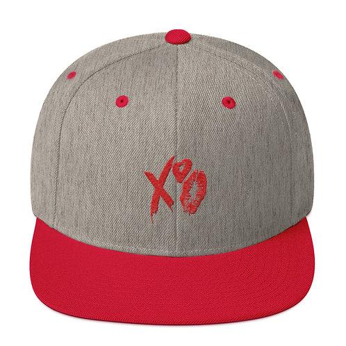 XO Lipstick Snapback Hat