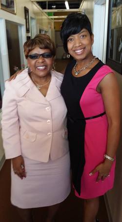 Yolanda Roberts and Carol Jones