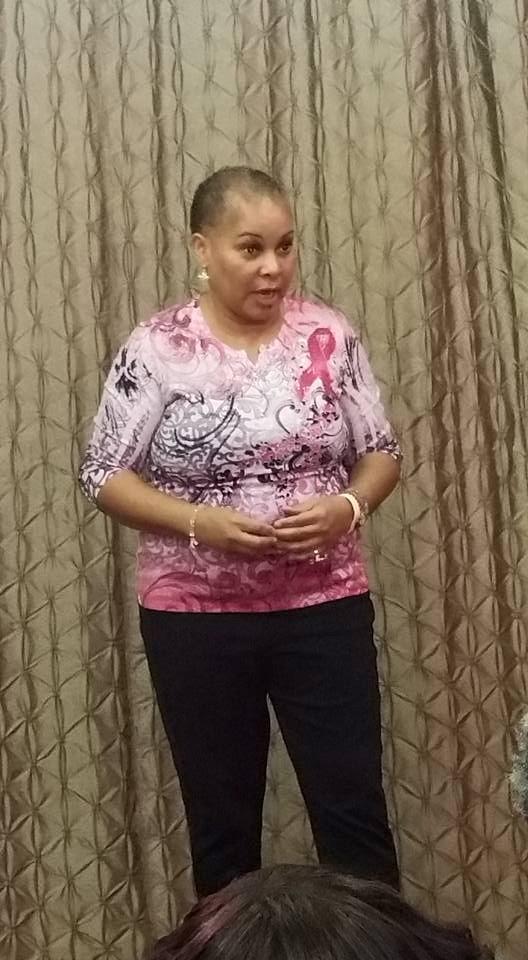 Guest Speaker at Power In Pink Brunc