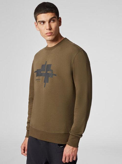 Bluza khaki z grafiką C.P. COMPANY