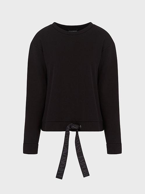 Bluza frotte z wiązaniem Emporio Armani