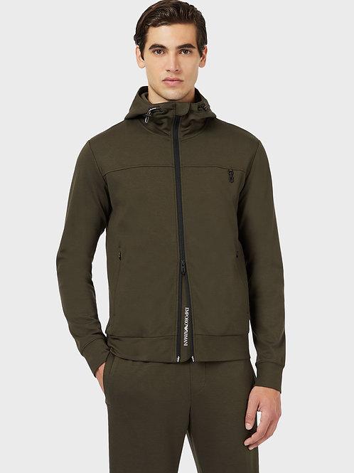 Bluza khaki z kapturem Emporio Armani