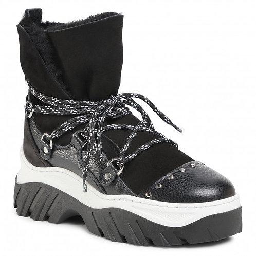 Czarne trekkingowe sneakersy zimowe INUIKII