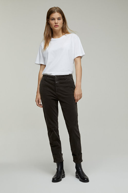 Spodnie slim fit z weluru Closed
