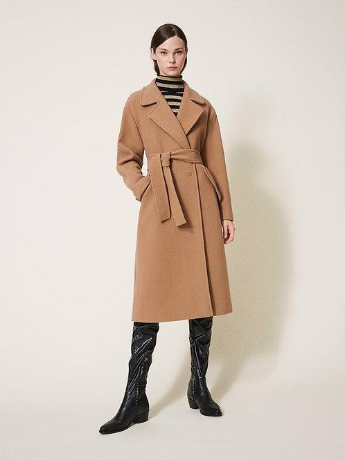 Klasyczny beżowy płaszcz TWINSET