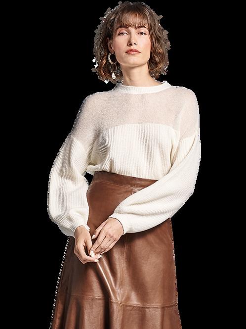 Sweter z półprzeźroczystą górą RIANI