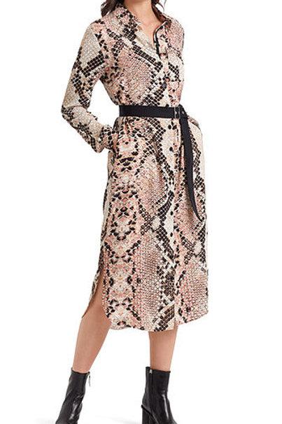 Sukienka w wężowy wzór Marc Cain
