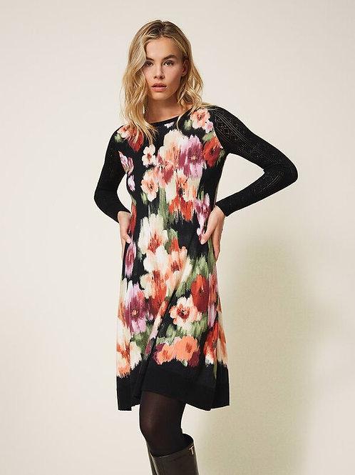 Sukienka z kwiatowym wzorem TWINSET