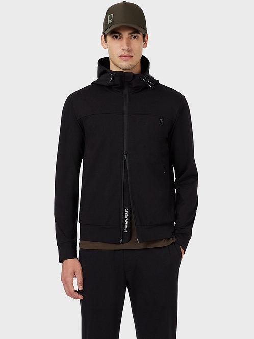 Czarna bluza z kapturem Emporio Armani