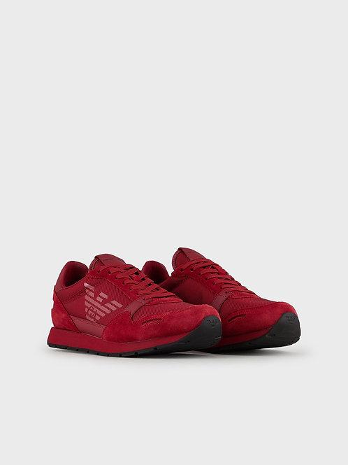 Zamszowe sneakersy Emporio Armani