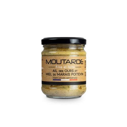 Moutarde fine et forte à l'ail des Ours et au miel   La Moutarderie Confiserie