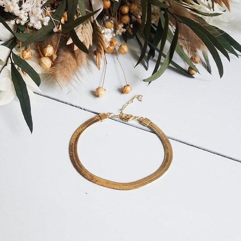 Bracelet chaîne plate | Les Tissages de Camille