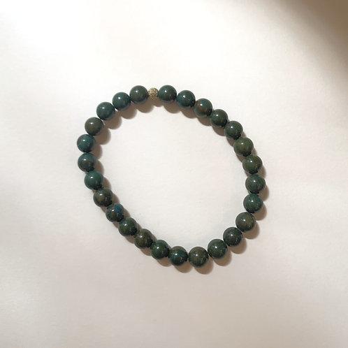 Bracelet (M) pierre naturelle Malachite   Ayden