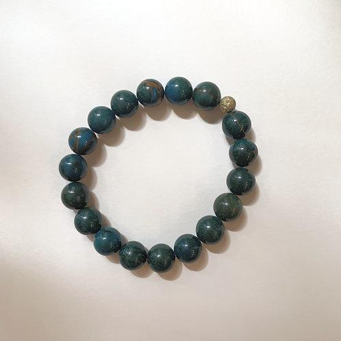 Bracelet (XL) pierre naturelle Malachite | Ayden